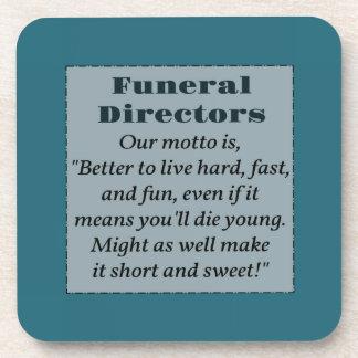 Funeral directors drink coasters