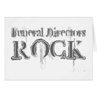 Funeral Directors Rock Card