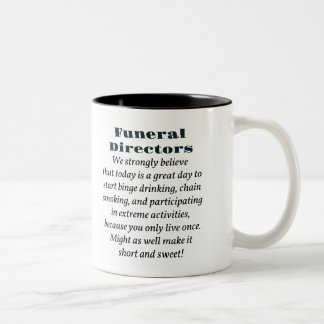 Funeral Directors Two-Tone Coffee Mug