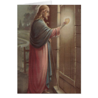 Funeral Holy Card | Jesus Knocking