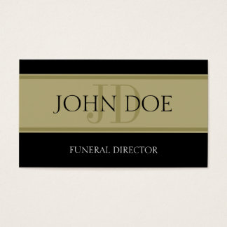 Funeral Home Black/Golden Banner Business Card