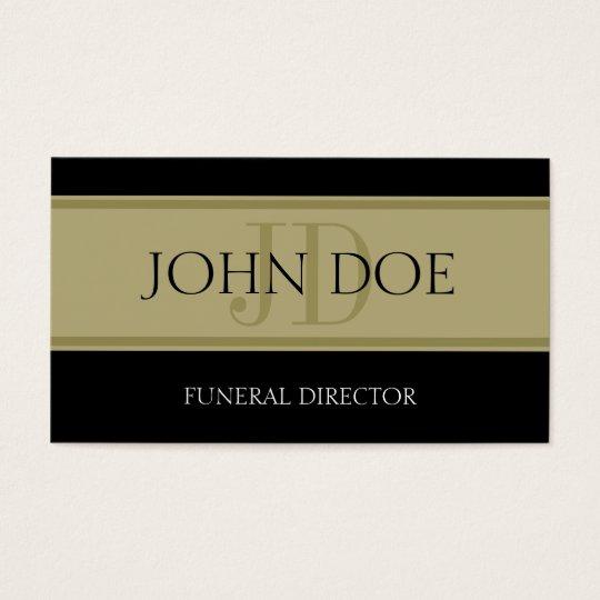 Funeral Home Black/Golden Banner Business Card