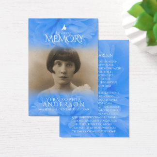 Funeral in loving memory prayer / poem card