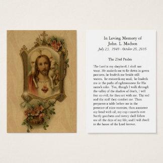 Funeral Memorial  Sacred Heart Jesus Good Shepherd Business Card