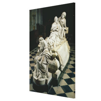 Funeral monument to Armand-Jean du Plessis, Cardin Canvas Print
