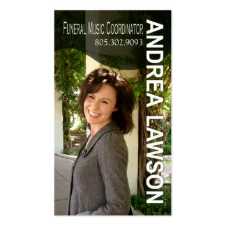 Funeral Music Coordinator Vocalist Photo Pack Of Standard Business Cards