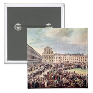 Funeral of Ludwig van Beethoven  in Vienna 15 Cm Square Badge