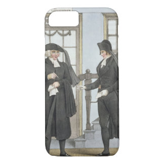Funeral officials of Amsterdam, illustration from iPhone 8/7 Case