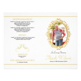 Funeral Order Of Service Program Template Flyer