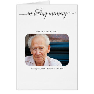 Funeral Program / Memorial Service Pamphlet Card