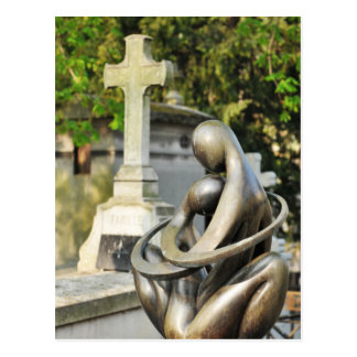 Funeral stone postcard