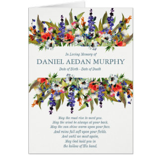 Funeral Thank You Card | Forest Wild Flowers