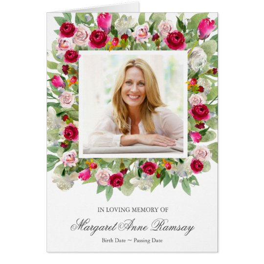 Funeral Thank You Card | Pretty Pink Florals