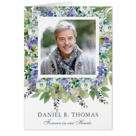 Funeral Thank You Card | Purple Florals