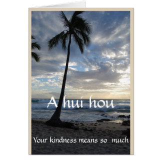 Funeral -Thank You from Family A Hui Hou Card