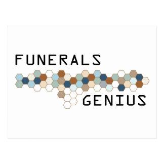 Funerals Genius Postcard