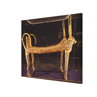 Funerary bed in the form of the sacred cow canvas print