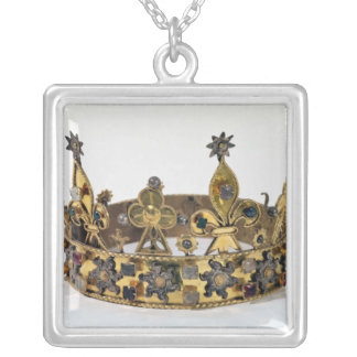 Funerary crown of Philippe of France  1404 Silver Plated Necklace