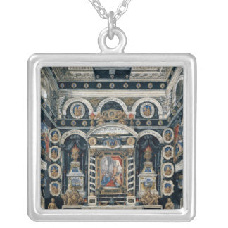 Funerary decoration to the memory of Henri II Silver Plated Necklace