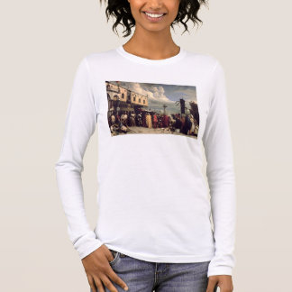 Funerary honours given to Titian who died in Venic Long Sleeve T-Shirt