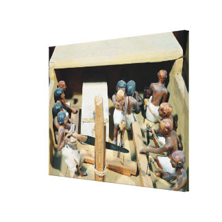 Funerary model of a carpentry workshop canvas print