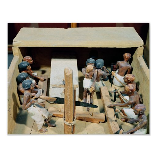 Funerary model of a carpentry workshop poster