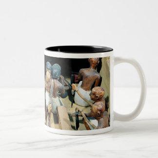 Funerary model of a carpentry workshop Two-Tone coffee mug