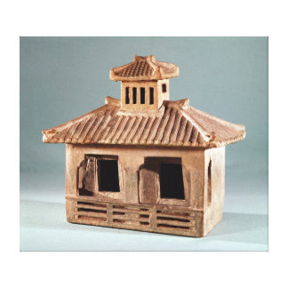 Funerary model of a house, Han Dynasty Canvas Print