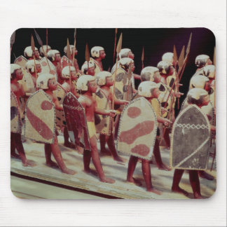 Funerary model of marching armed soldiers mouse mat