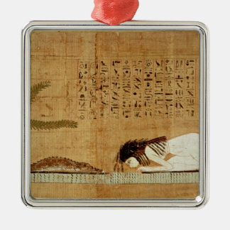 Funerary papyrus depicting christmas ornament