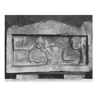 Funerary relief of a couple, from Palmyra, Syria Postcard