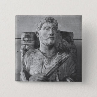 Funerary relief of Jarhai, from Palmyra, Syria 15 Cm Square Badge