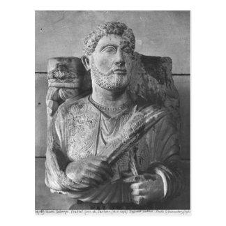 Funerary relief of Jarhai, from Palmyra, Syria Postcard