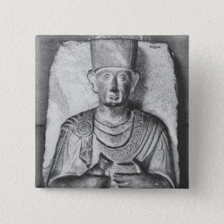 Funerary relief of Zabdale, from Palmyra, Syria 15 Cm Square Badge