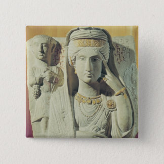 Funerary relief with a female figure 15 cm square badge