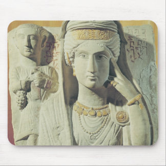 Funerary relief with a female figure mouse mat