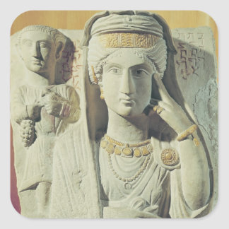 Funerary relief with a female figure square sticker