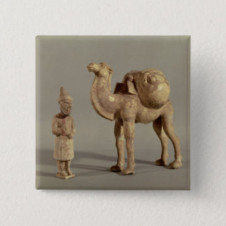 Funerary statuettes of a laden camel 15 cm square badge