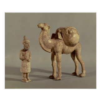 Funerary statuettes of a laden camel poster