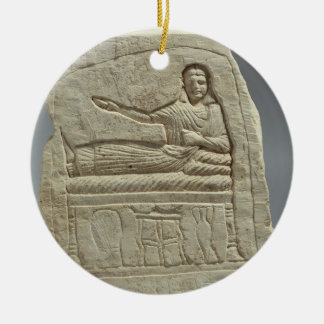 Funerary stela in the name of the lady Artemis, fr Round Ceramic Decoration