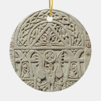 Funerary stela with a dove or eagle, 8th-9th centu christmas ornament