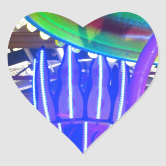 Funfair Lights Heart Sticker