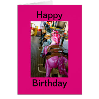 Funfair Ride Birthday Greeting Card