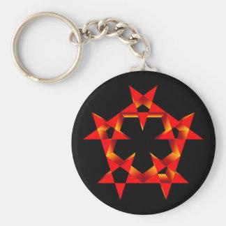 Fünfecke pentagons keychains