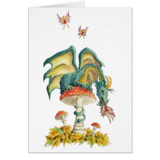 Fungi Dragon notecard