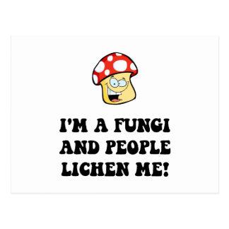 Fungi Lichen Postcard