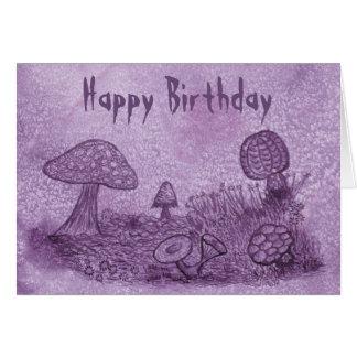 Fungi Meadow Birthday Card