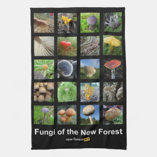 Fungi of the New Forest teatowel Towel