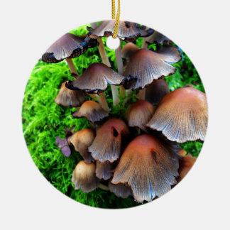 Fungi Round Ceramic Decoration