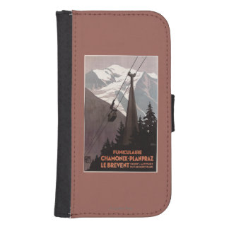 Funiculaire Le Brevent Cable Car Poster Samsung S4 Wallet Case